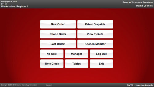 Restaurant Kitchen Order Display restaurant management software - point of success