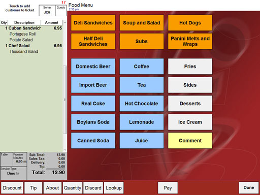 Restaurant software from point of success point of success for Restaurant planning software