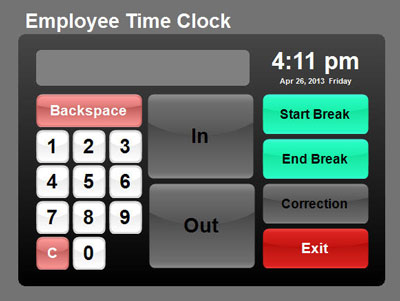how do employee time clocks work